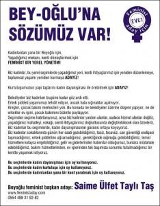 Feminist Aday ilan 5stx25cm